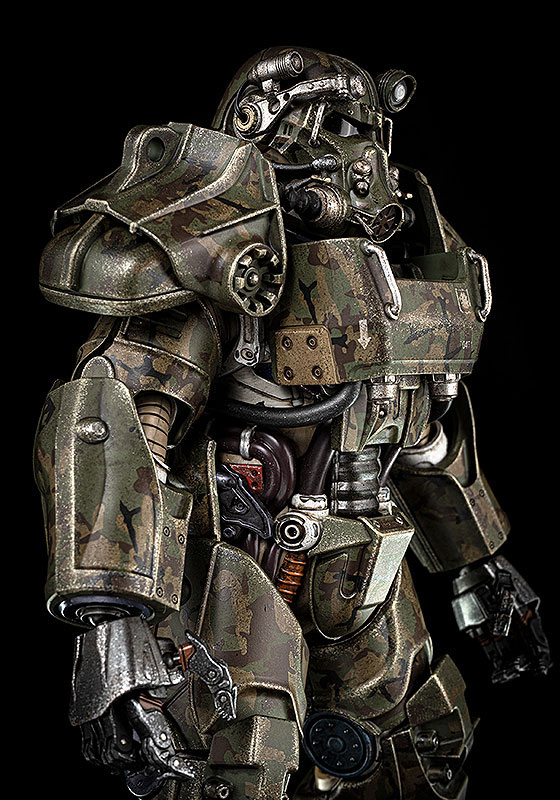 Fallout『T‐60 Camouflage Power Armor(T-60 迷彩パワーアーマー)』フォールアウト 1/6 可動フィギュア-006