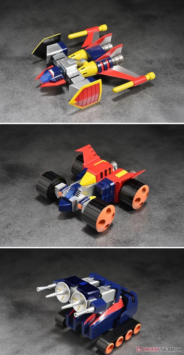 スーパーメタル・アクション『ダイケンゴー』宇宙魔神ダイケンゴー 変形合体可動フィギュア-008