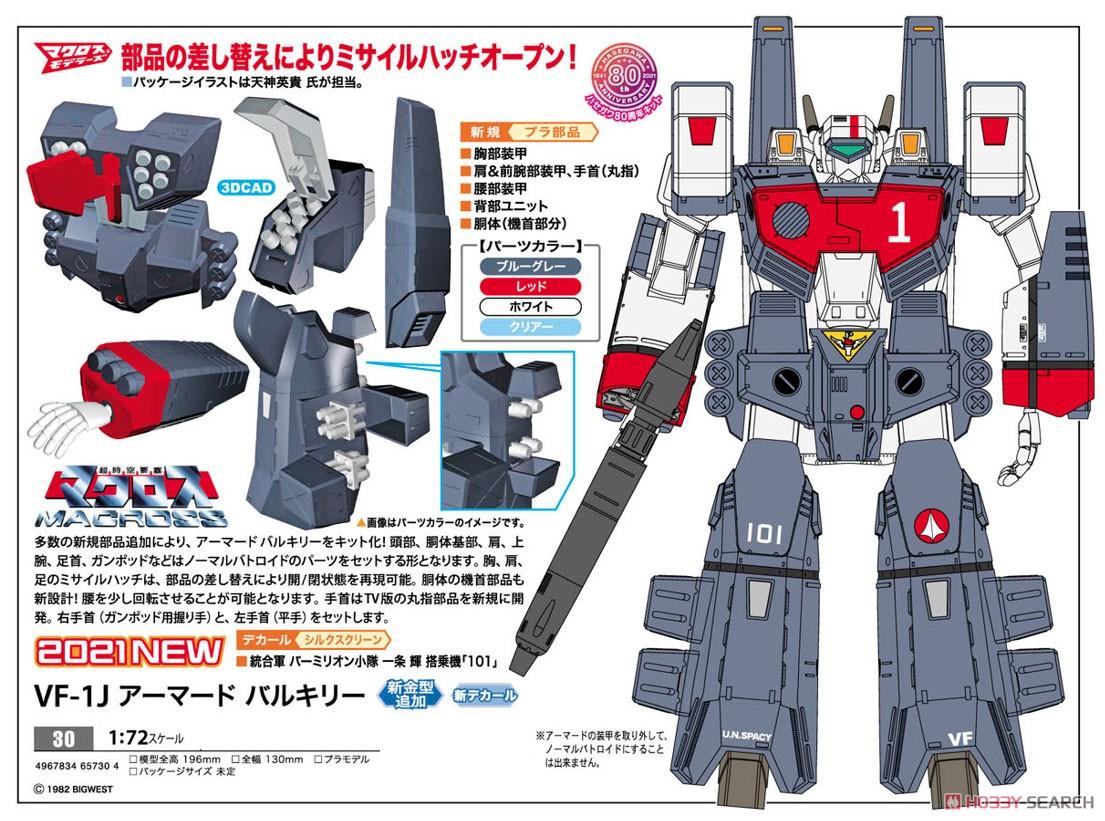超時空要塞マクロス『VF-1J アーマード バルキリー』1/72 プラモデル-008