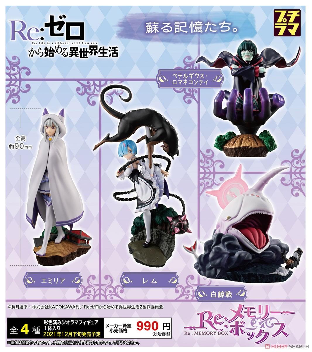 プチラマ『Re:ゼロから始める異世界生活 Re:メモリーボックス』4個入りBOX-006