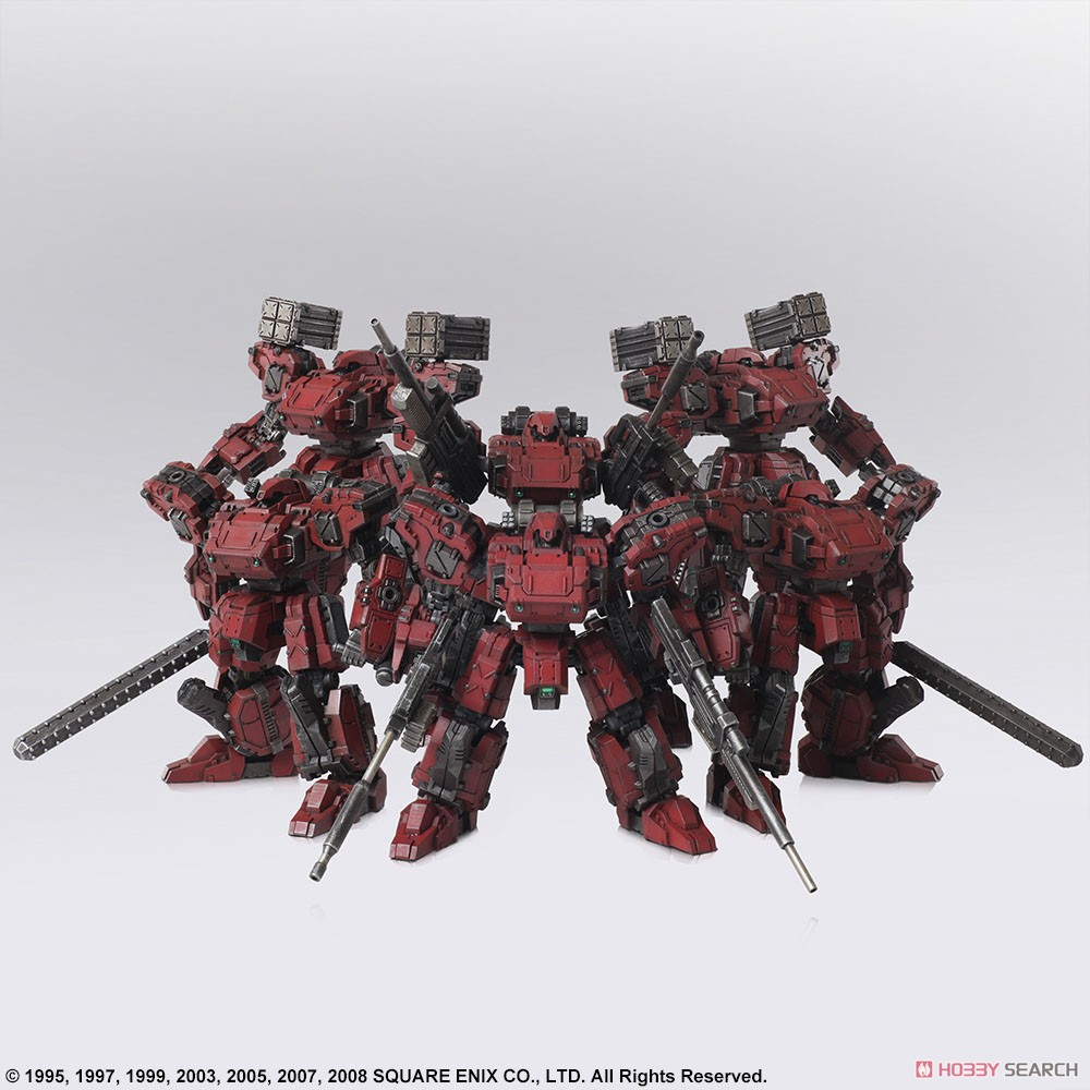 FRONT MISSION『フロントミッション ストラクチャーアーツ Vol.2 フロスト 地獄の壁 6機セット』FRONT MISSION STRUCTURE ARTS 1/72 プラモデル-011