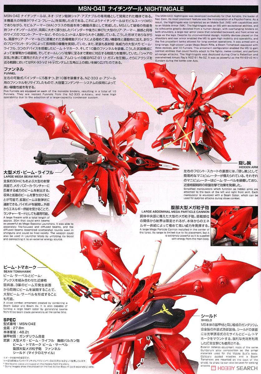 【再販】HG 1/144『ナイチンゲール』逆襲のシャア プラモデル-025