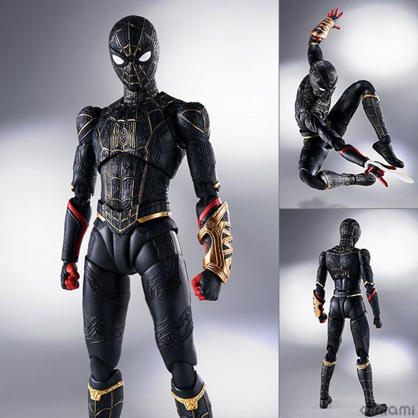 S.H.Figuarts『スパイダーマン[ブラック&ゴールドスーツ]』スパイダーマン: ノー・ウェイ・ホーム 1/6 可動フィギュア
