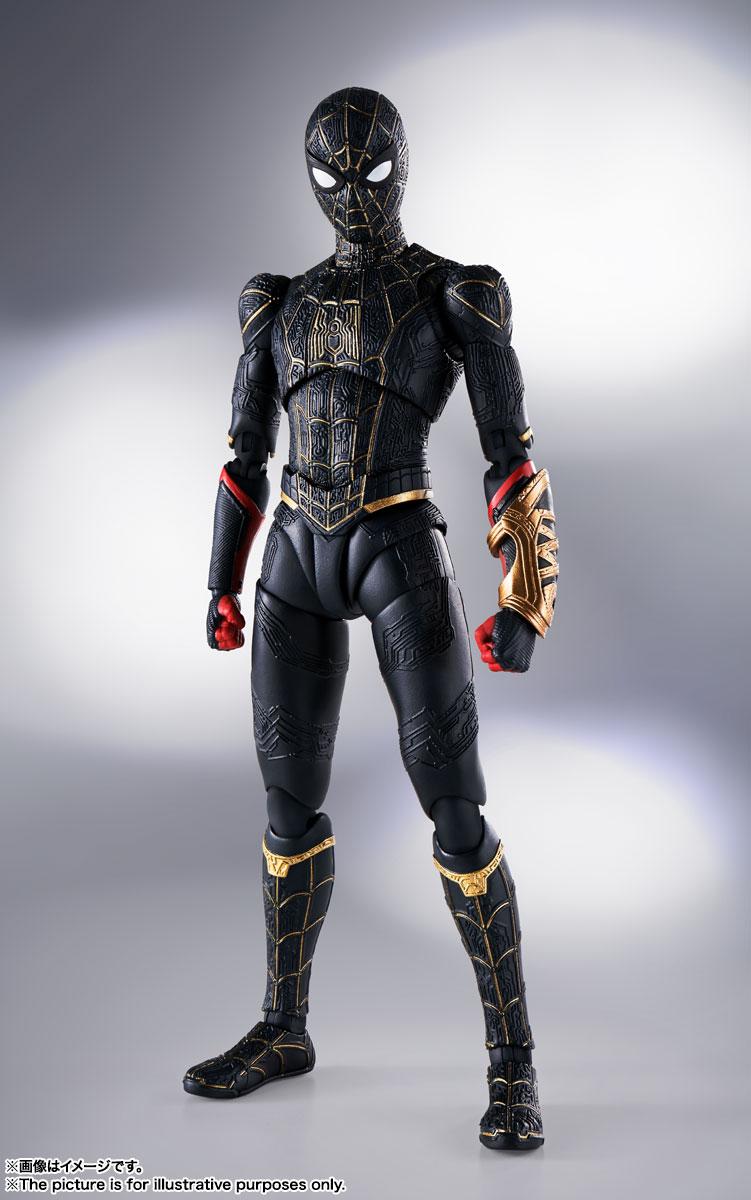 S.H.Figuarts『スパイダーマン[ブラック&ゴールドスーツ]』スパイダーマン: ノー・ウェイ・ホーム 1/6 可動フィギュア-001