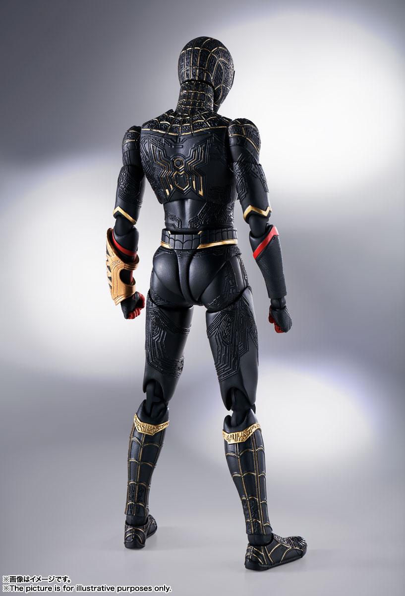 S.H.Figuarts『スパイダーマン[ブラック&ゴールドスーツ]』スパイダーマン: ノー・ウェイ・ホーム 1/6 可動フィギュア-002