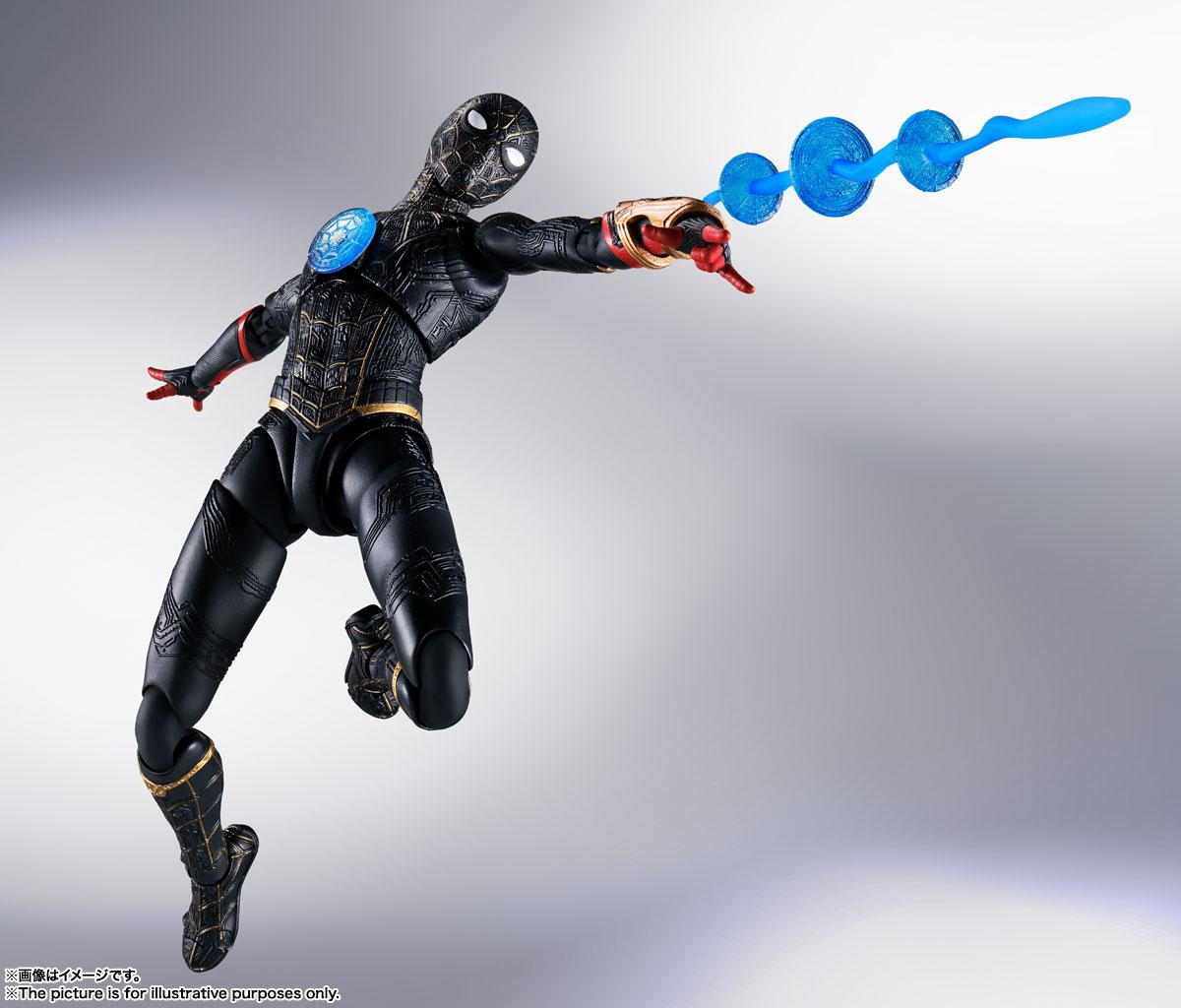 S.H.Figuarts『スパイダーマン[ブラック&ゴールドスーツ]』スパイダーマン: ノー・ウェイ・ホーム 1/6 可動フィギュア-003