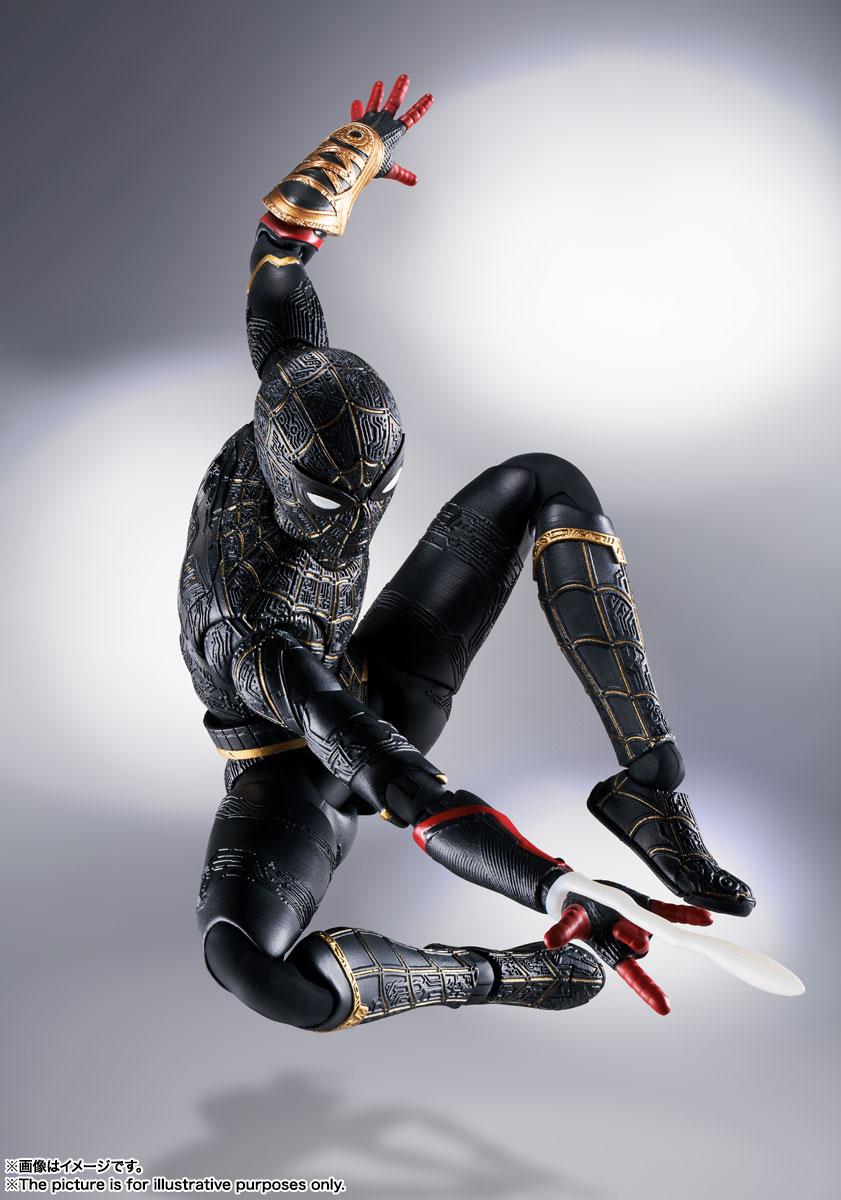 S.H.Figuarts『スパイダーマン[ブラック&ゴールドスーツ]』スパイダーマン: ノー・ウェイ・ホーム 1/6 可動フィギュア-005