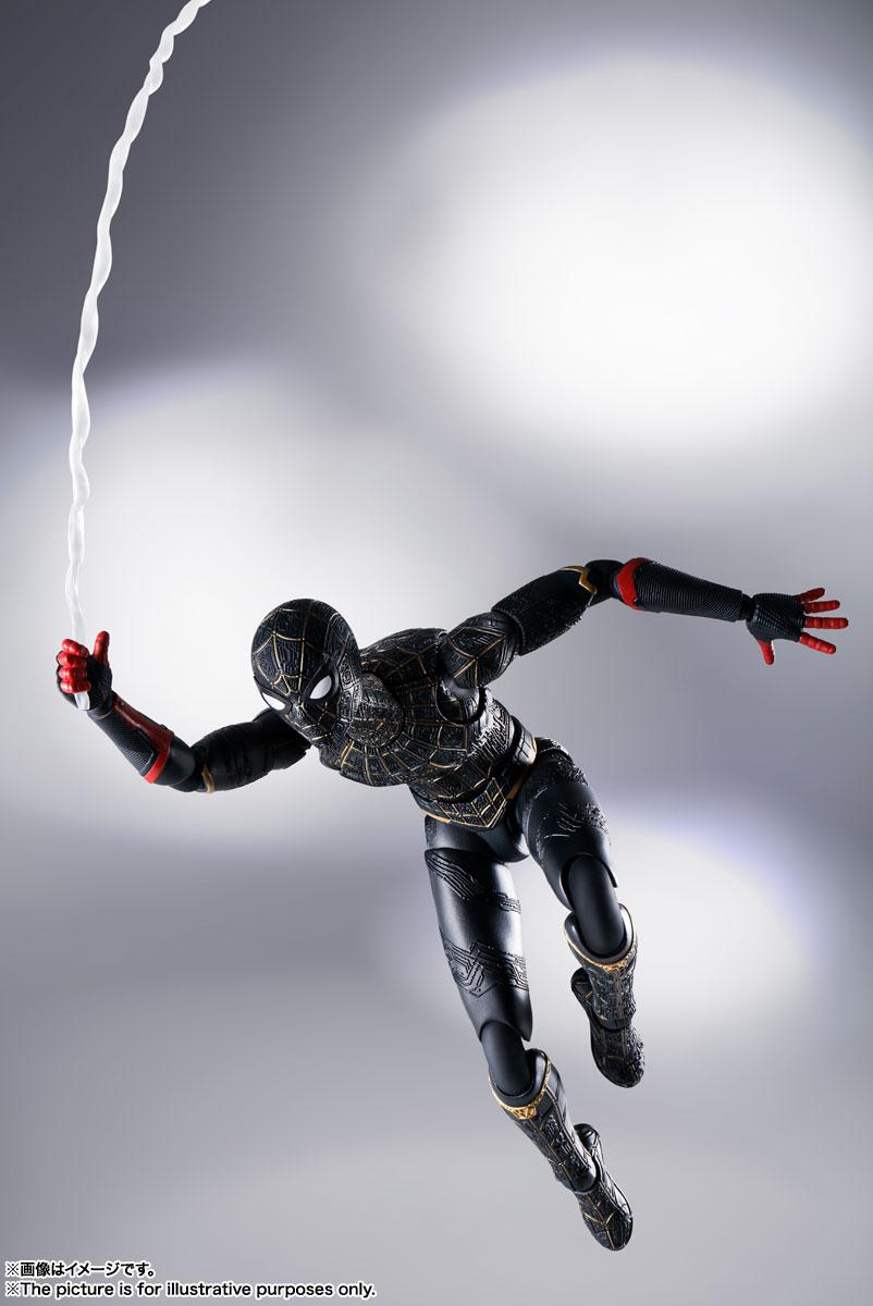 S.H.Figuarts『スパイダーマン[ブラック&ゴールドスーツ]』スパイダーマン: ノー・ウェイ・ホーム 1/6 可動フィギュア-006
