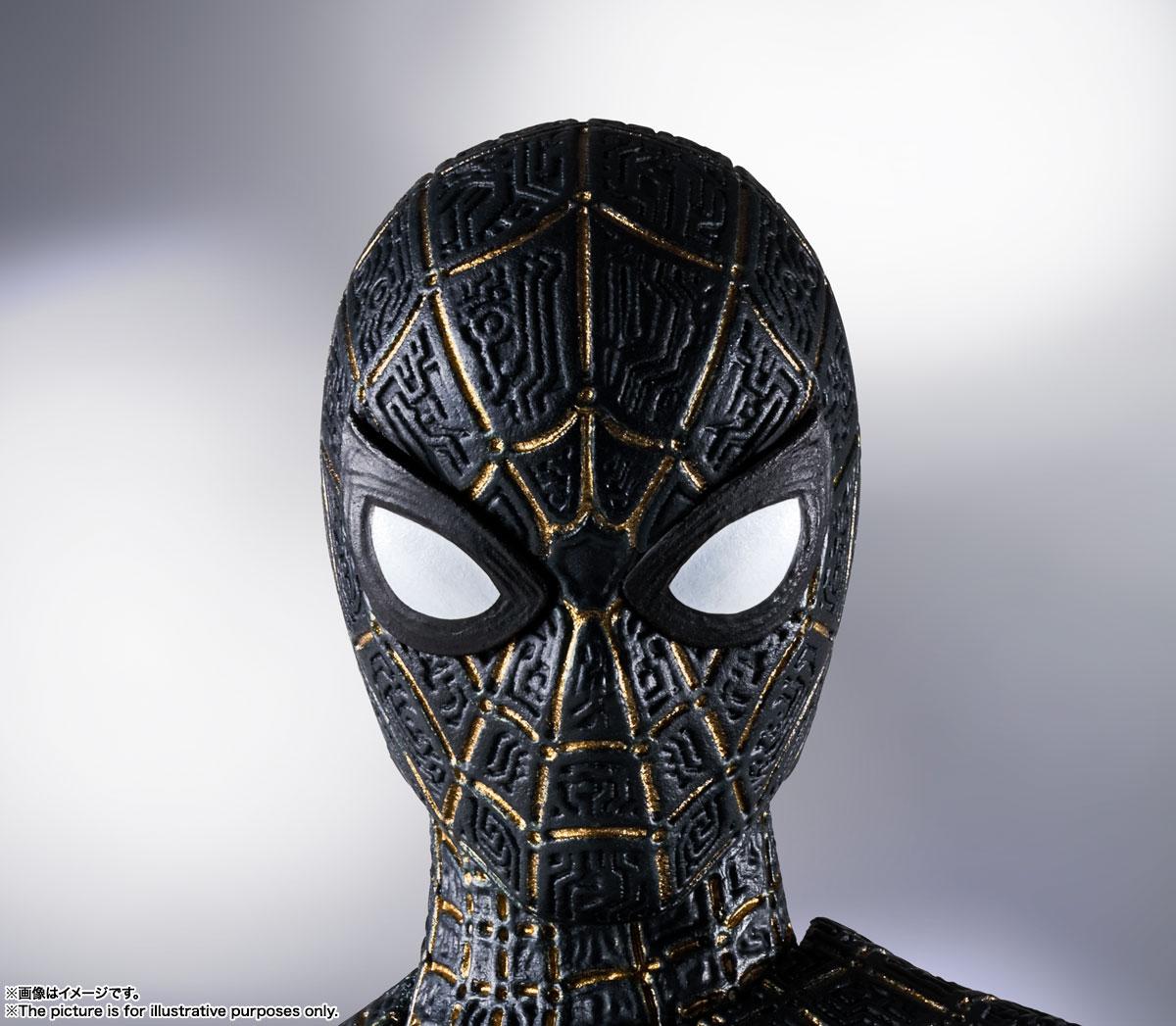 S.H.Figuarts『スパイダーマン[ブラック&ゴールドスーツ]』スパイダーマン: ノー・ウェイ・ホーム 1/6 可動フィギュア-007
