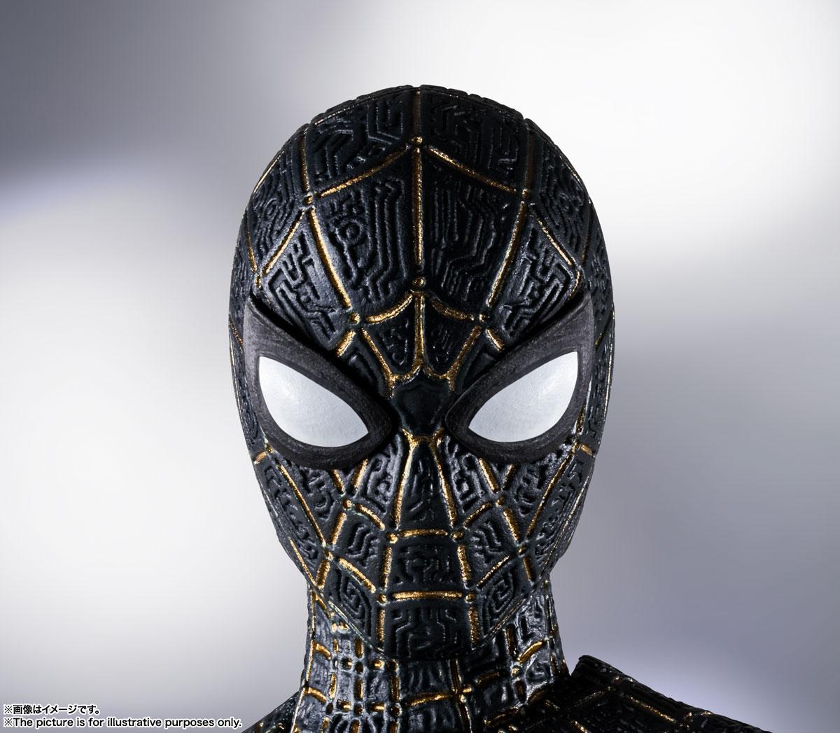 S.H.Figuarts『スパイダーマン[ブラック&ゴールドスーツ]』スパイダーマン: ノー・ウェイ・ホーム 1/6 可動フィギュア-008