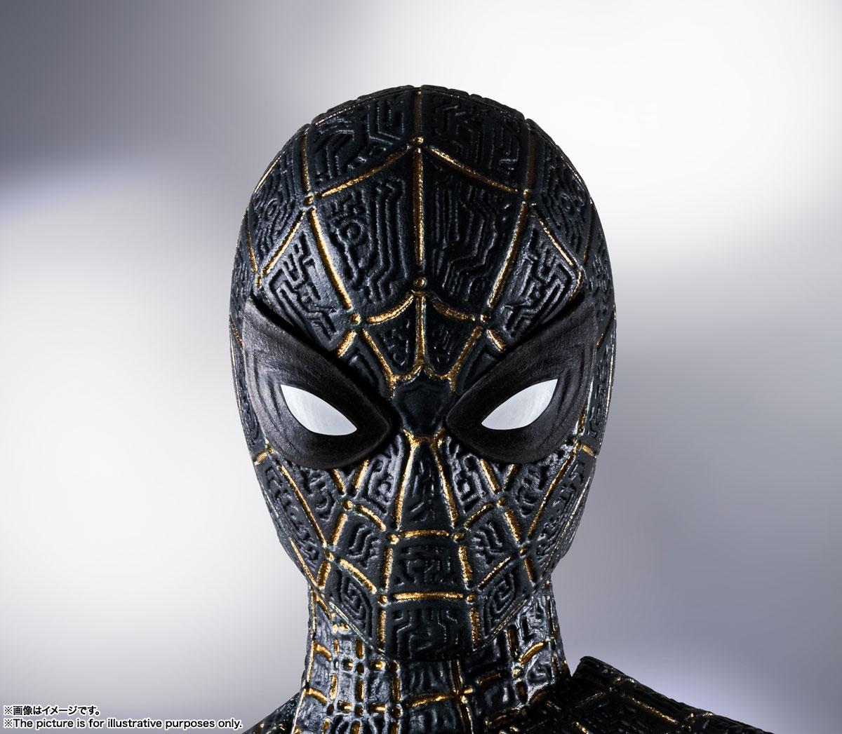 S.H.Figuarts『スパイダーマン[ブラック&ゴールドスーツ]』スパイダーマン: ノー・ウェイ・ホーム 1/6 可動フィギュア-009
