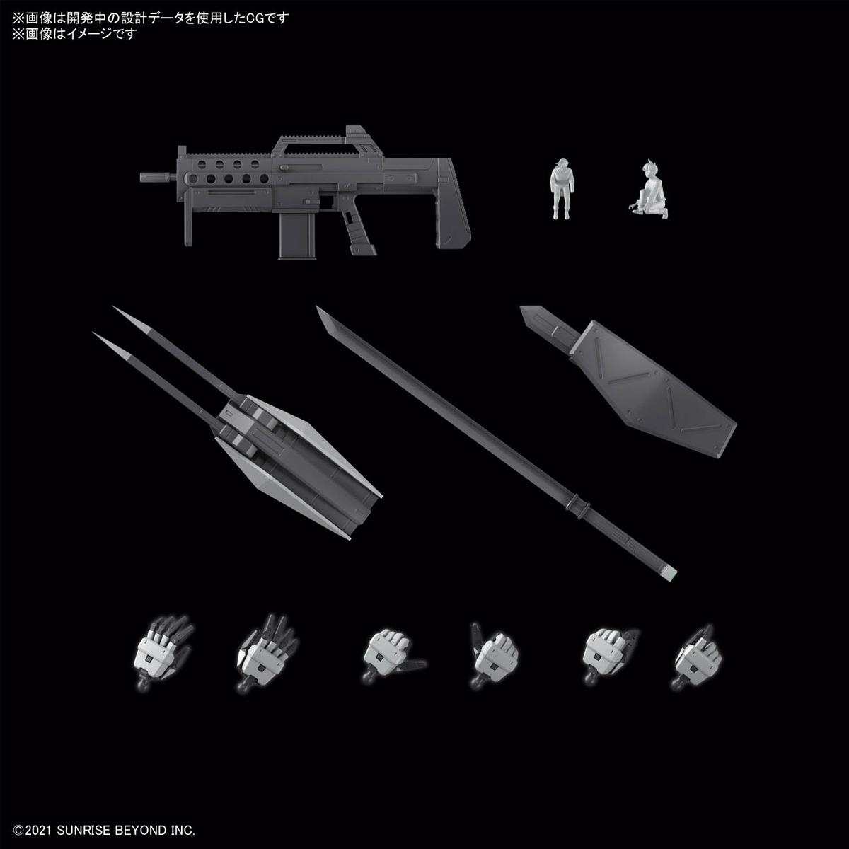 FULL MECHANICS 1/48『メイレスケンブ(初回限定クリア外装付き)』境界戦機 プラモデル-008