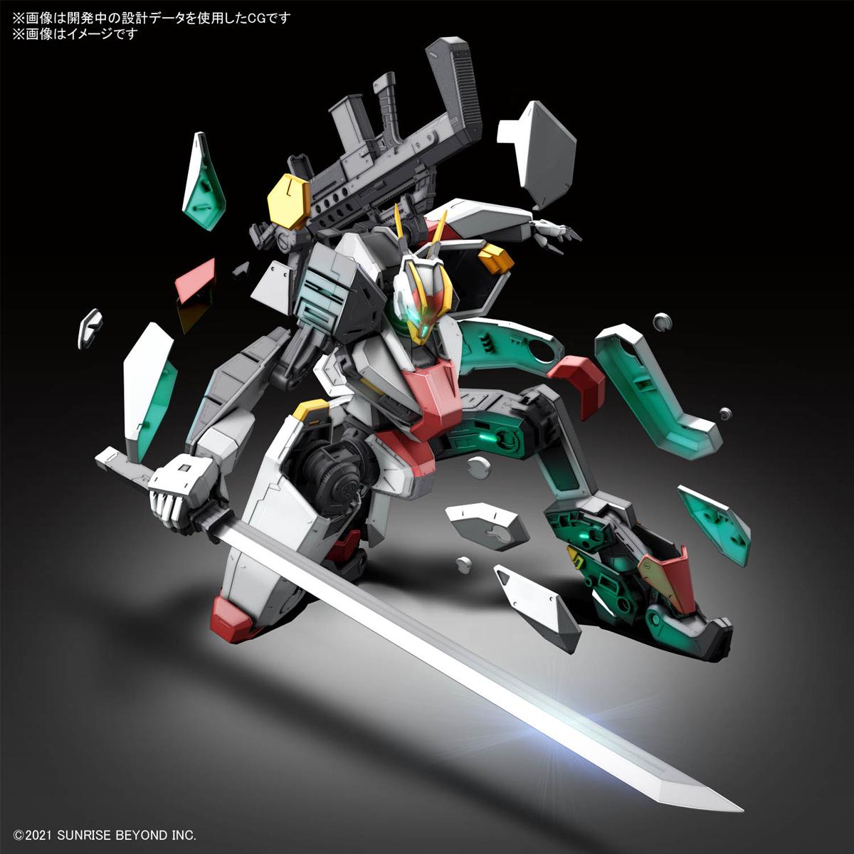 FULL MECHANICS 1/48『メイレスケンブ(初回限定クリア外装付き)』境界戦機 プラモデル-010