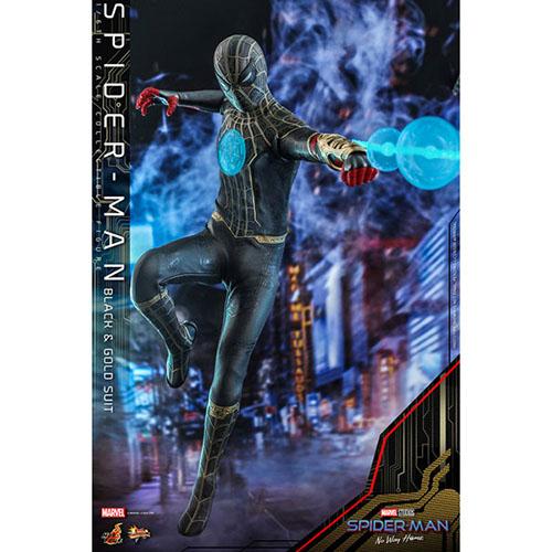 ムービー・マスターピース『スパイダーマン ブラック&ゴールドスーツ』スパイダーマン: ノー・ウェイ・ホーム 1/6 可動フィギュア