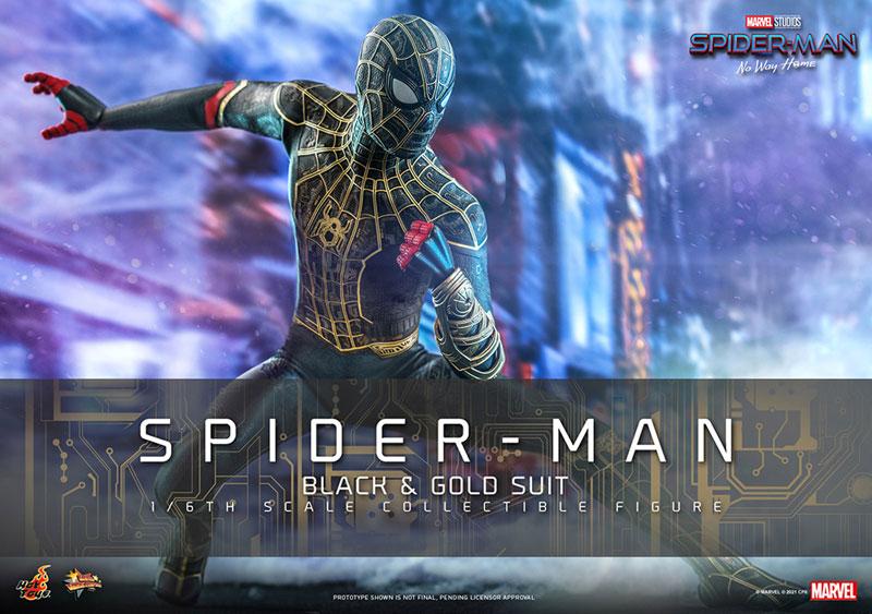 ムービー・マスターピース『スパイダーマン ブラック&ゴールドスーツ』スパイダーマン: ノー・ウェイ・ホーム 1/6 可動フィギュア-001