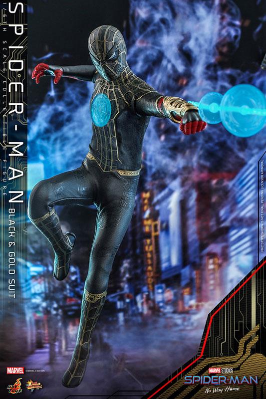 ムービー・マスターピース『スパイダーマン ブラック&ゴールドスーツ』スパイダーマン: ノー・ウェイ・ホーム 1/6 可動フィギュア-002