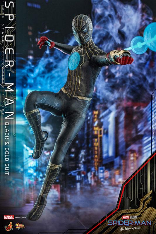 ムービー・マスターピース『スパイダーマン ブラック&ゴールドスーツ』スパイダーマン: ノー・ウェイ・ホーム 1/6 可動フィギュア-003