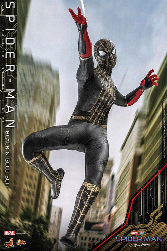 ムービー・マスターピース『スパイダーマン ブラック&ゴールドスーツ』スパイダーマン: ノー・ウェイ・ホーム 1/6 可動フィギュア-004