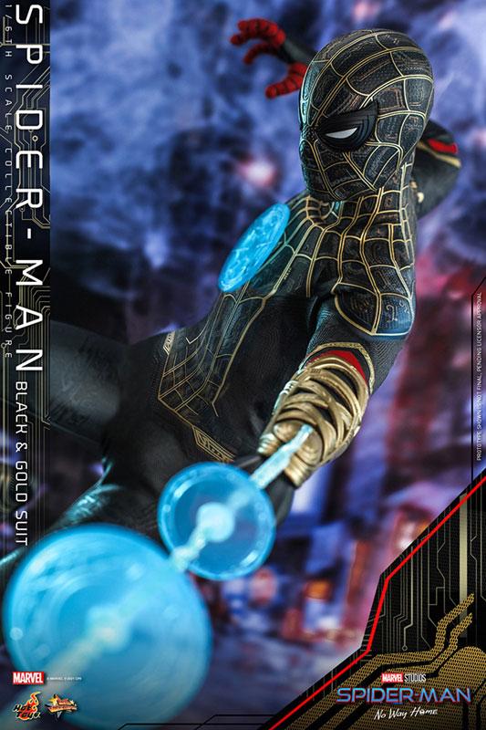 ムービー・マスターピース『スパイダーマン ブラック&ゴールドスーツ』スパイダーマン: ノー・ウェイ・ホーム 1/6 可動フィギュア-005