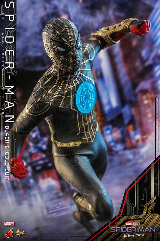 ムービー・マスターピース『スパイダーマン ブラック&ゴールドスーツ』スパイダーマン: ノー・ウェイ・ホーム 1/6 可動フィギュア-006