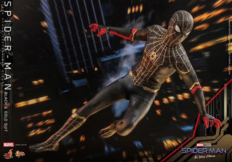ムービー・マスターピース『スパイダーマン ブラック&ゴールドスーツ』スパイダーマン: ノー・ウェイ・ホーム 1/6 可動フィギュア-011