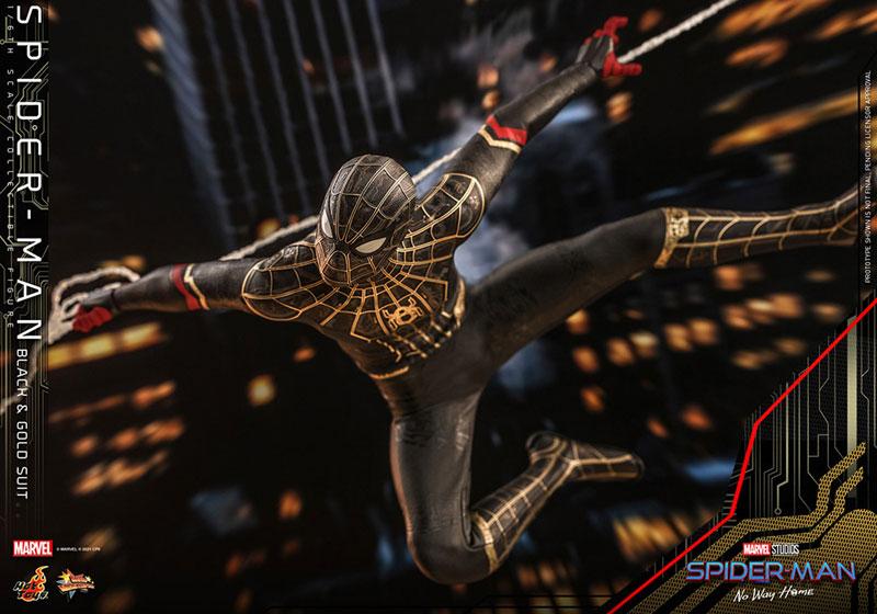 ムービー・マスターピース『スパイダーマン ブラック&ゴールドスーツ』スパイダーマン: ノー・ウェイ・ホーム 1/6 可動フィギュア-012