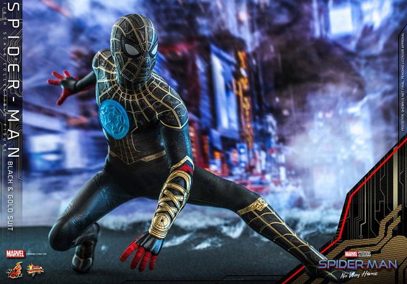 ムービー・マスターピース『スパイダーマン ブラック&ゴールドスーツ』スパイダーマン: ノー・ウェイ・ホーム 1/6 可動フィギュア-014
