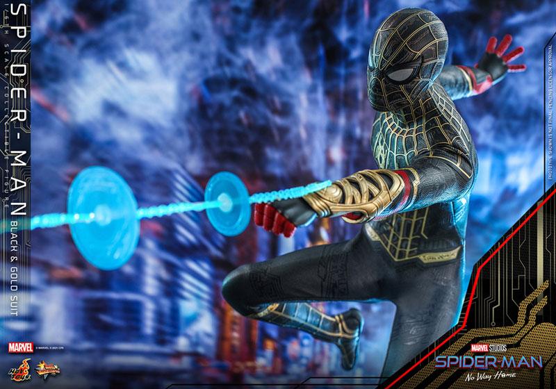 ムービー・マスターピース『スパイダーマン ブラック&ゴールドスーツ』スパイダーマン: ノー・ウェイ・ホーム 1/6 可動フィギュア-015