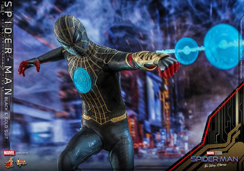 ムービー・マスターピース『スパイダーマン ブラック&ゴールドスーツ』スパイダーマン: ノー・ウェイ・ホーム 1/6 可動フィギュア-016