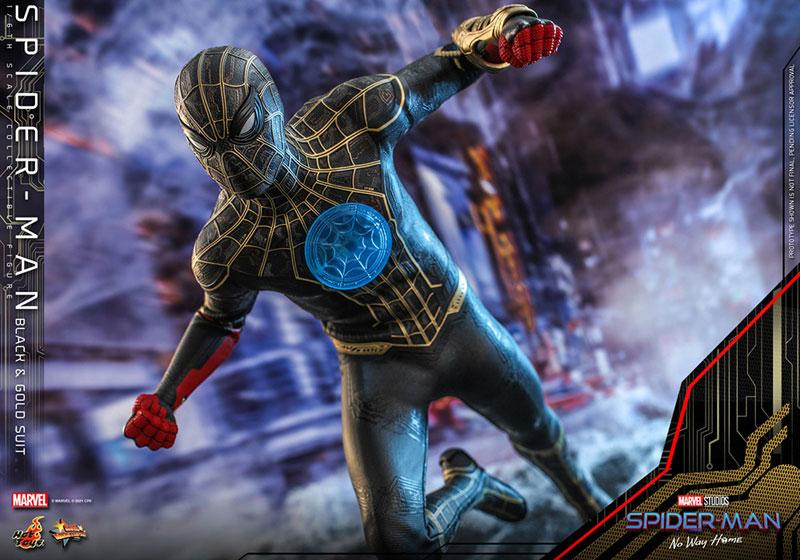 ムービー・マスターピース『スパイダーマン ブラック&ゴールドスーツ』スパイダーマン: ノー・ウェイ・ホーム 1/6 可動フィギュア-017