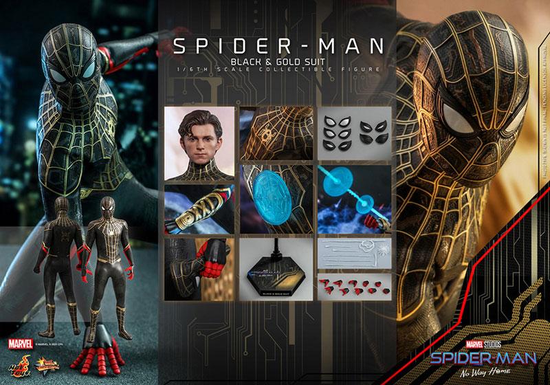 ムービー・マスターピース『スパイダーマン ブラック&ゴールドスーツ』スパイダーマン: ノー・ウェイ・ホーム 1/6 可動フィギュア-018