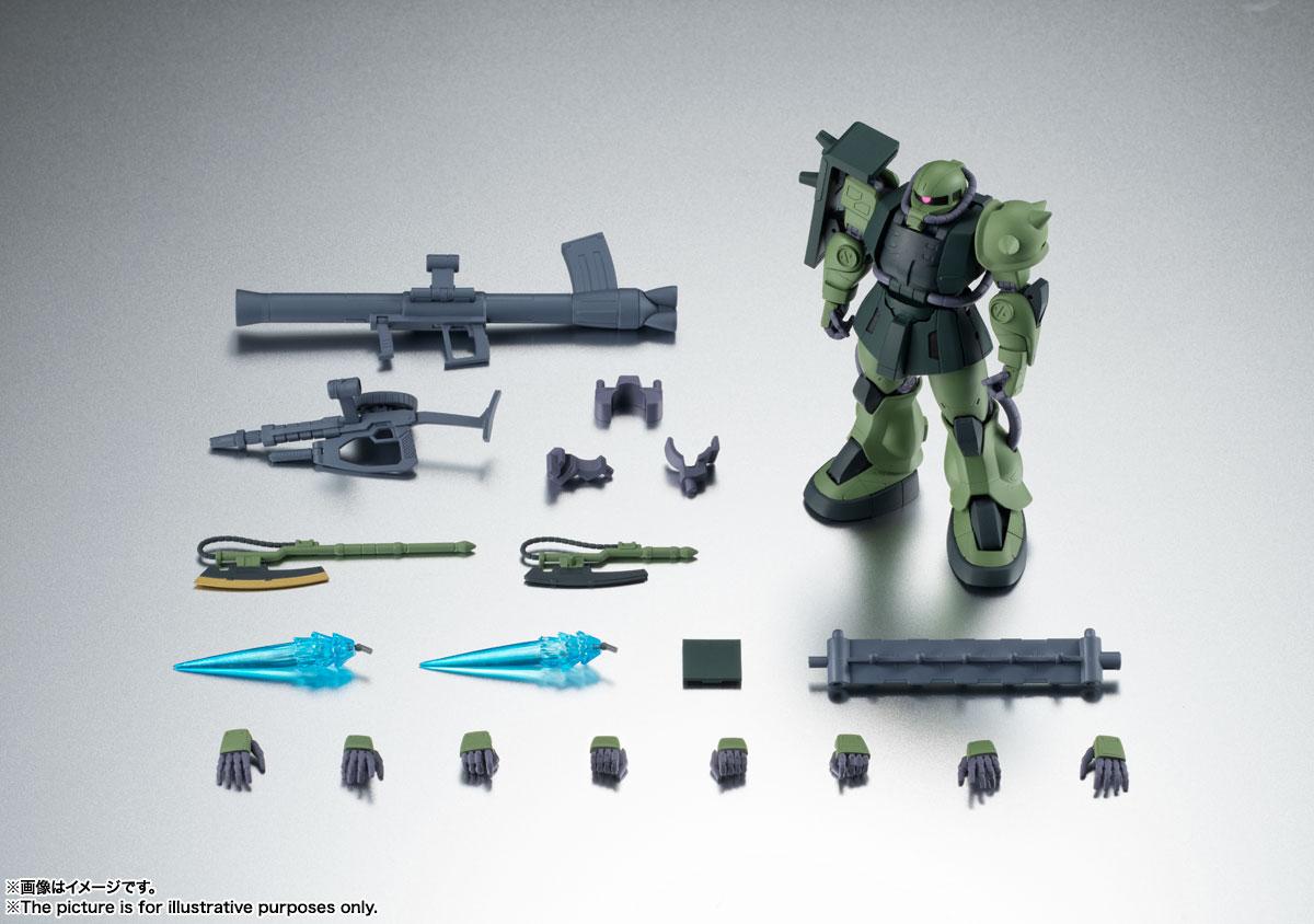 ROBOT魂〈SIDE MS〉『MS-06JC 陸戦型ザクII JC型 ver. A.N.I.M.E.』機動戦士ガンダム 第08MS小隊 可動フィギュア-010