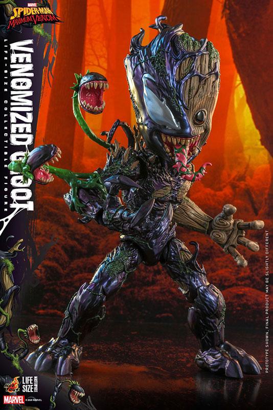 ライフサイズ・マスターピース『グルート(ヴェノム版)』スパイダーマン:マキシマム・ヴェノム 1/6 可動フィギュア-001