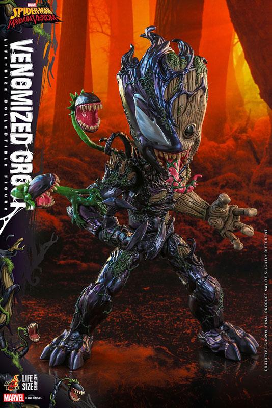 ライフサイズ・マスターピース『グルート(ヴェノム版)』スパイダーマン:マキシマム・ヴェノム 1/6 可動フィギュア-002