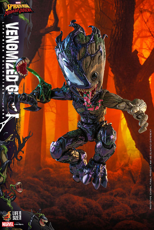 ライフサイズ・マスターピース『グルート(ヴェノム版)』スパイダーマン:マキシマム・ヴェノム 1/6 可動フィギュア-003