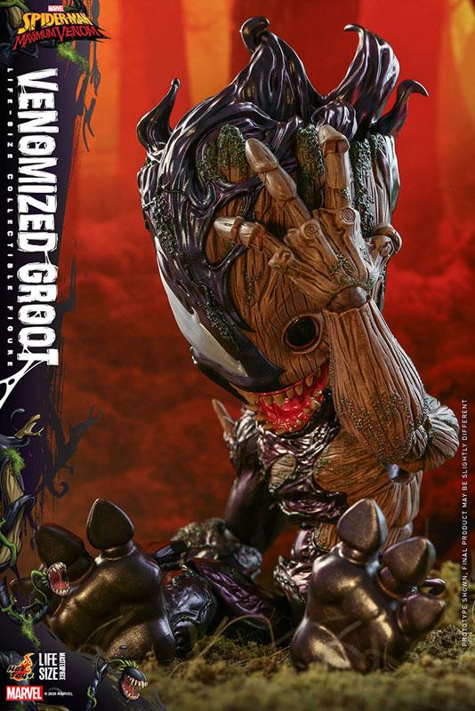 ライフサイズ・マスターピース『グルート(ヴェノム版)』スパイダーマン:マキシマム・ヴェノム 1/6 可動フィギュア-012