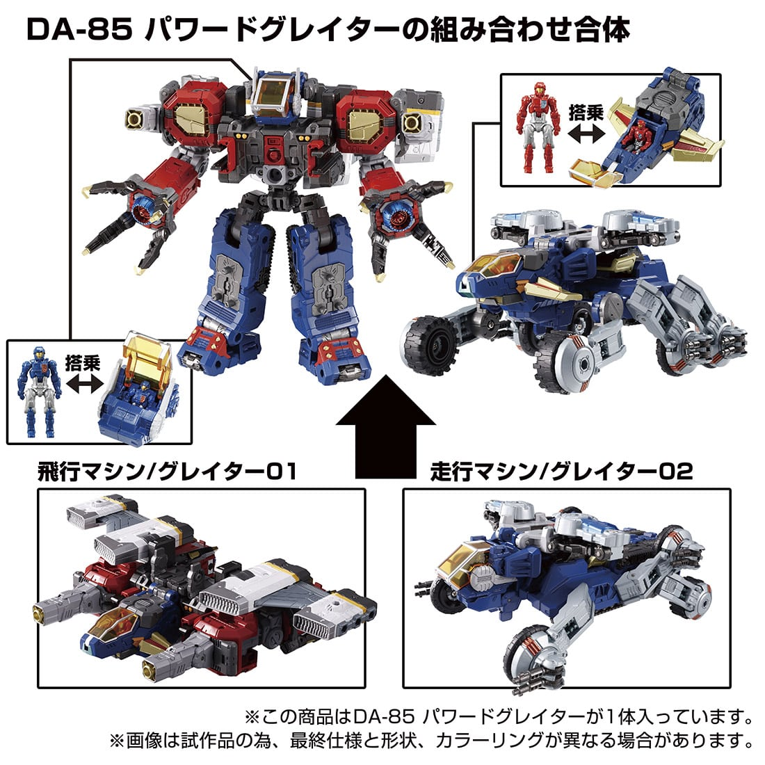 ダイアクロン『DA-85 パワードグレイター』可変可動フィギュア-003