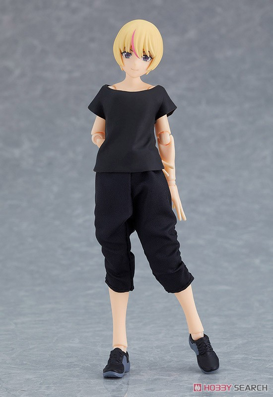 figma styles『女性body(ユウキ)with テックウェアコーデ』可動フィギュア-014