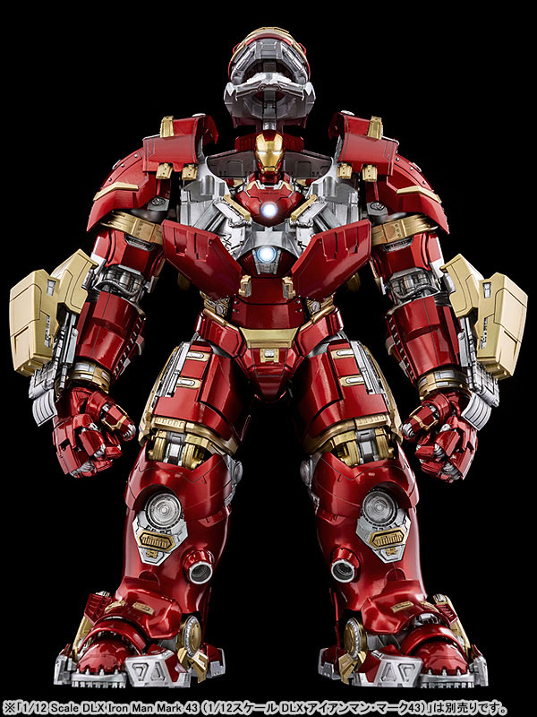 """インフィニティ・サーガ DLX 『アイアンマン・マーク44 """"ハルクバスター""""(Iron Man Mark 44 """"Hulkbuster"""")』Infinity Saga 1/12 可動フィギュア-009"""