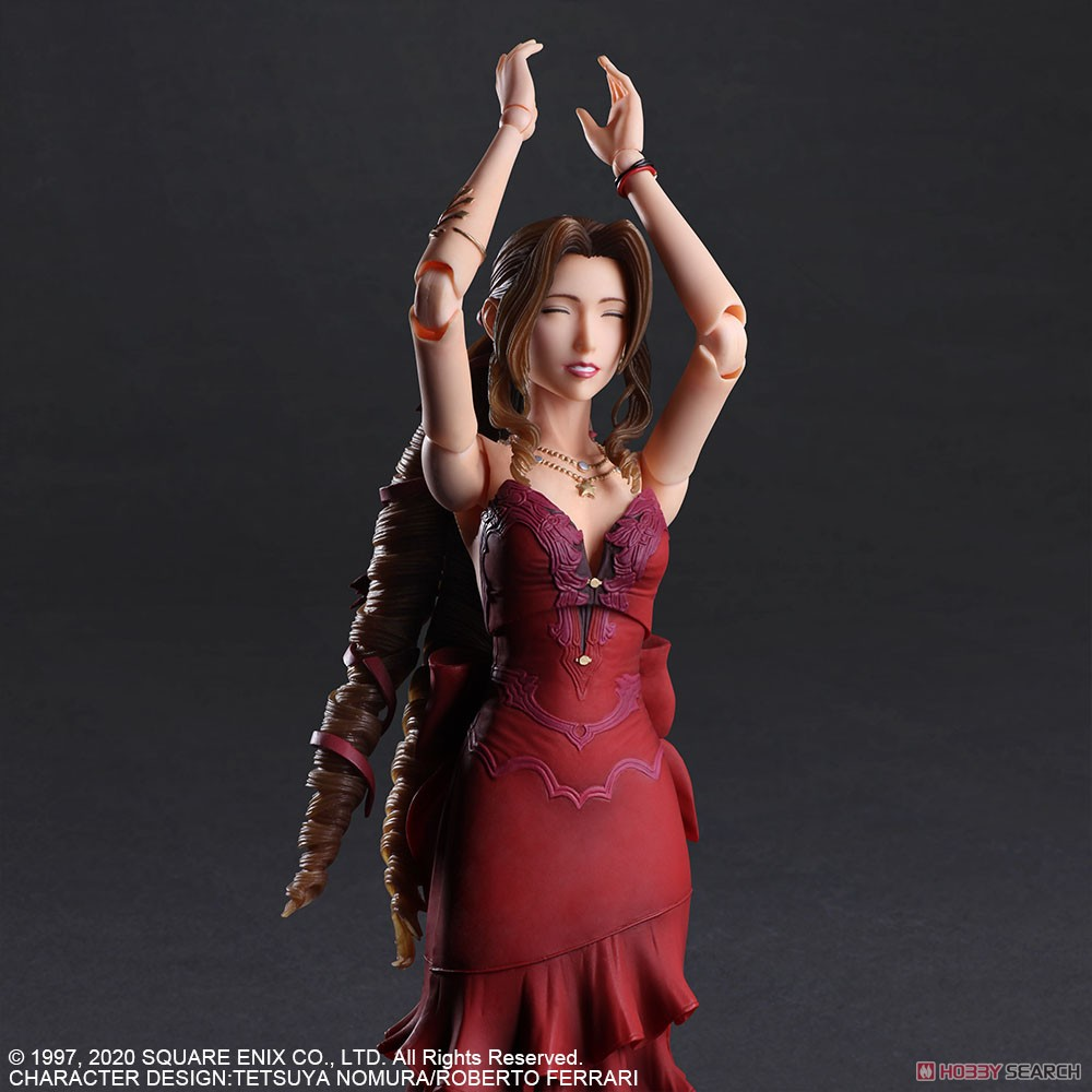 PLAY ARTS改『エアリス・ゲインズブール -ドレス Ver.-』ファイナルファンタジー VII リメイク 可動フィギュア-004