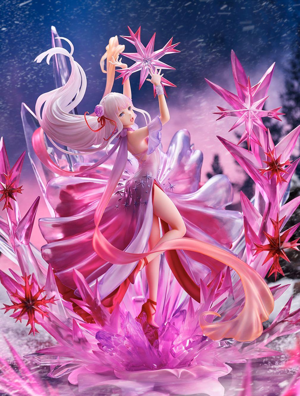 【限定販売】Re:ゼロから始める異世界生活『氷結のエミリア -Crystal Dress Ver-』 1/7 完成品フィギュア-005