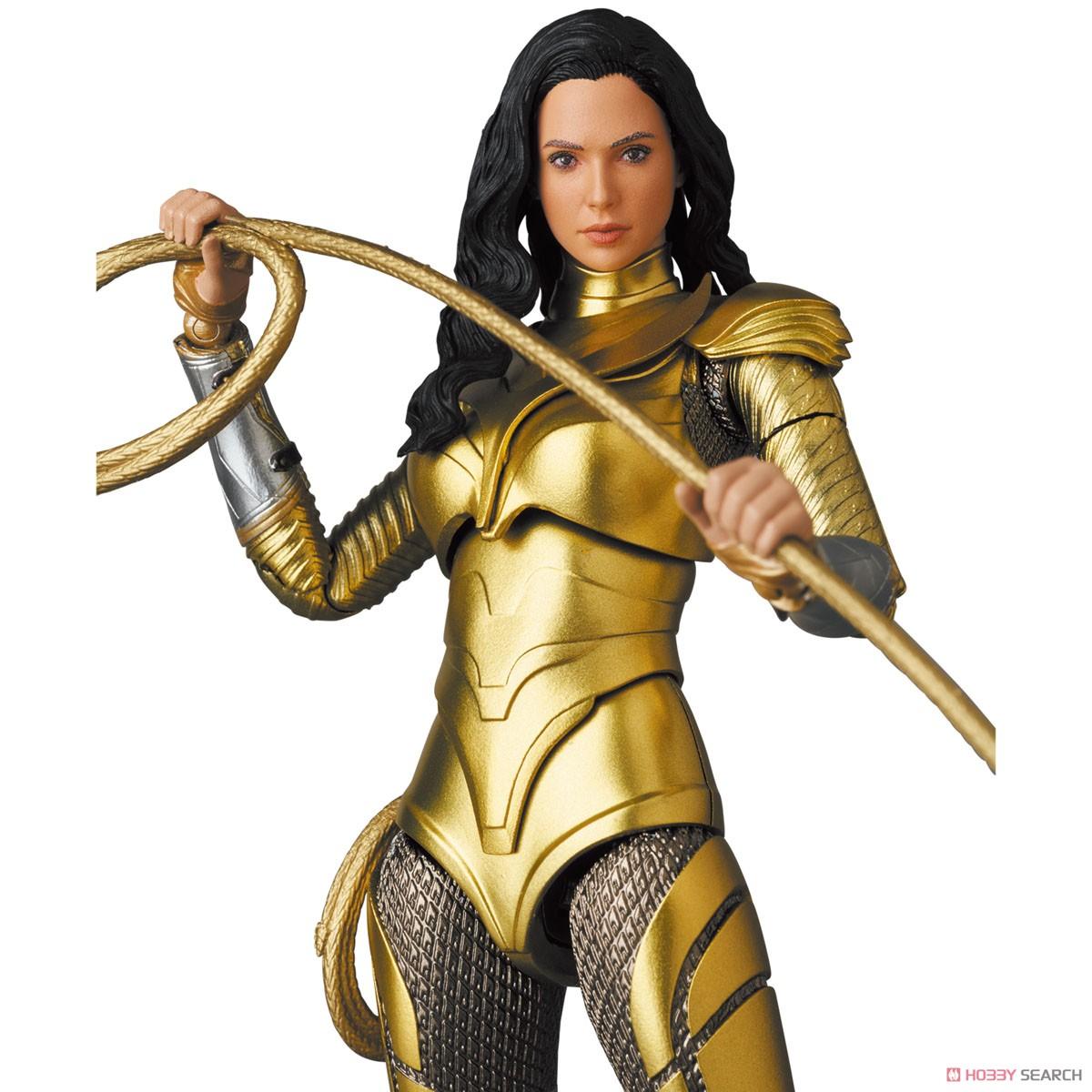 マフェックス No.148 MAFEX『ワンダーウーマン 1984 ゴールドアーマー版/WONDER WOMAN GOLDEN ARMOR Ver.』可動フィギュア-002