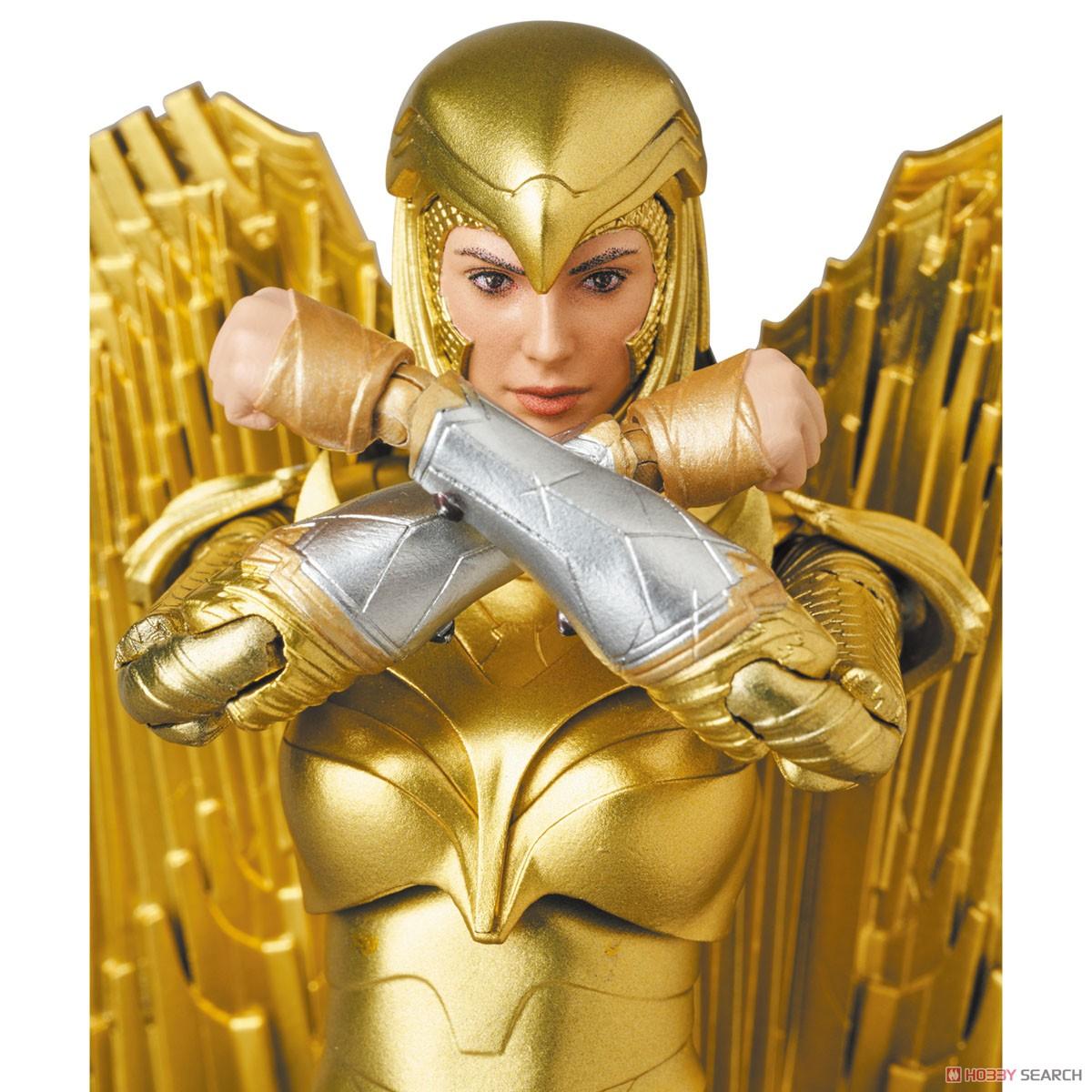 マフェックス No.148 MAFEX『ワンダーウーマン 1984 ゴールドアーマー版/WONDER WOMAN GOLDEN ARMOR Ver.』可動フィギュア-009
