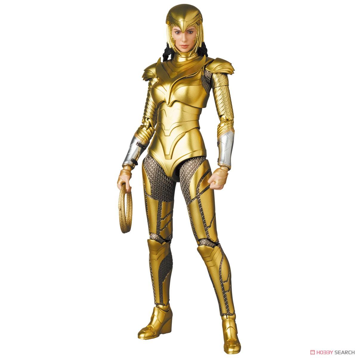 マフェックス No.148 MAFEX『ワンダーウーマン 1984 ゴールドアーマー版/WONDER WOMAN GOLDEN ARMOR Ver.』可動フィギュア-010