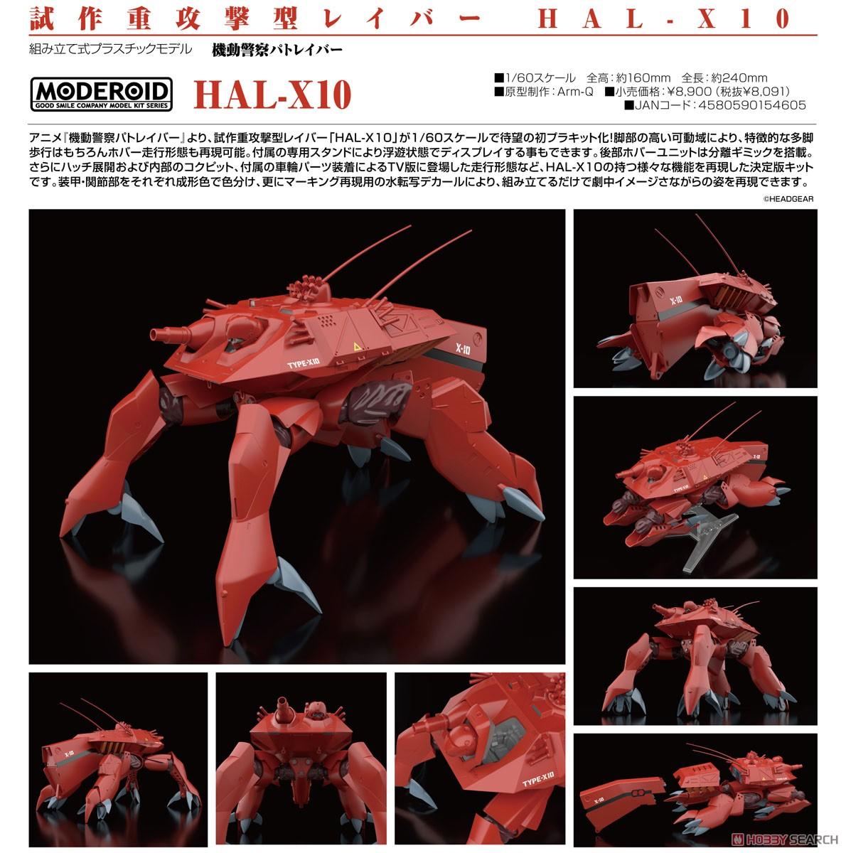 MODEROID『HAL-X10』機動警察パトレイバー  1/60 プラモデル-008