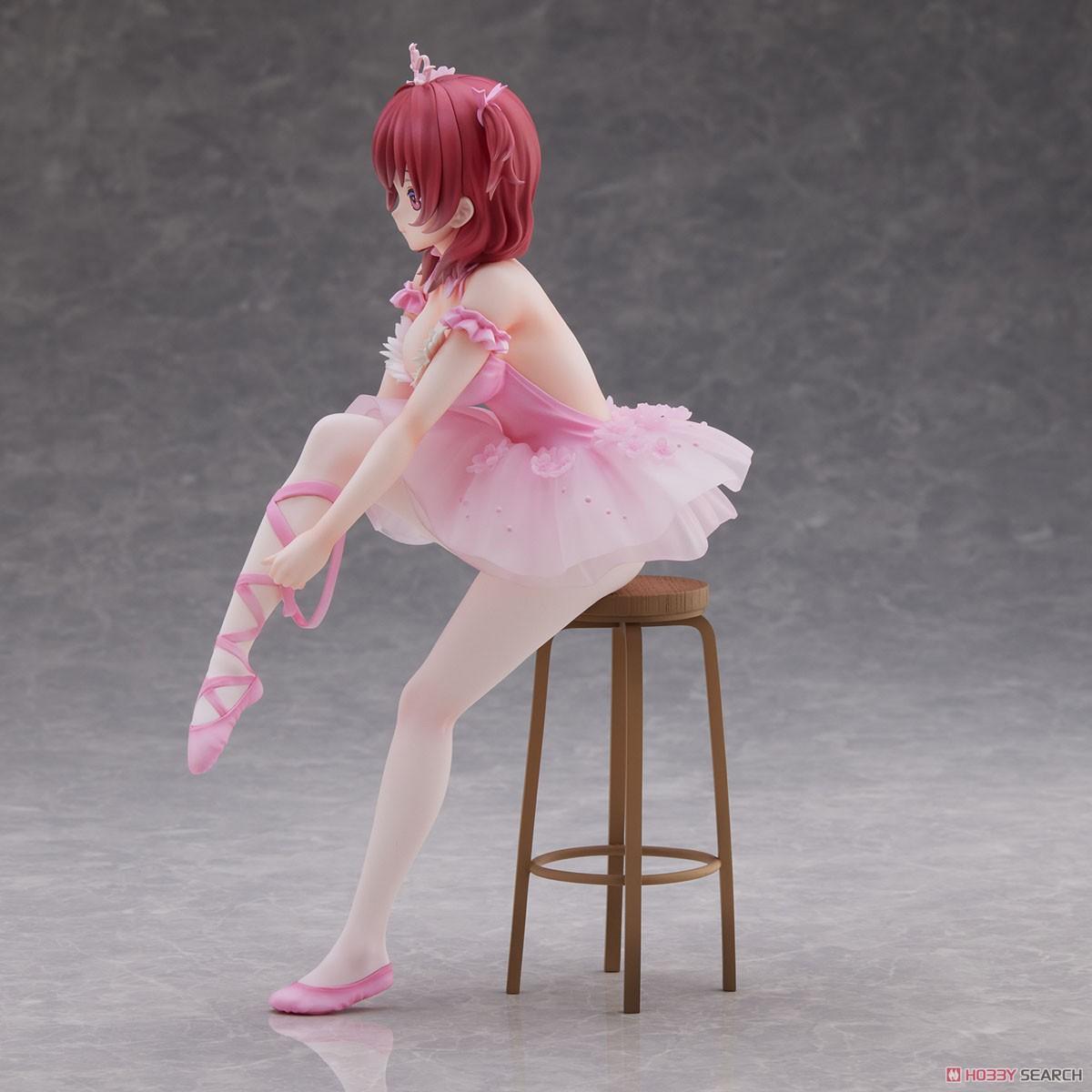 Anmiイラスト『フラミンゴバレエ団 赤髪の子』完成品フィギュア-003