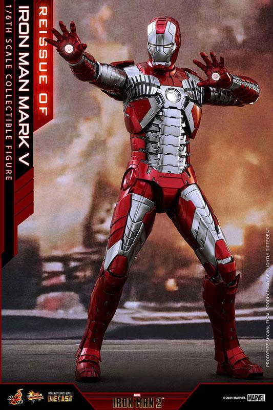 【再販】ムービー・マスターピース DIECAST『アイアンマン・マーク5』アイアンマン2 1/6 可動フィギュア-001