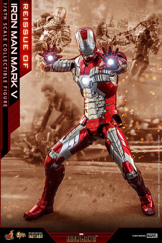 【再販】ムービー・マスターピース DIECAST『アイアンマン・マーク5』アイアンマン2 1/6 可動フィギュア-002
