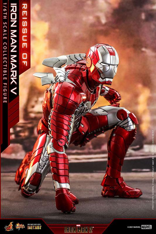 【再販】ムービー・マスターピース DIECAST『アイアンマン・マーク5』アイアンマン2 1/6 可動フィギュア-003