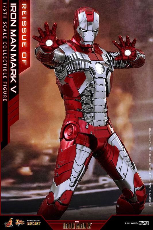【再販】ムービー・マスターピース DIECAST『アイアンマン・マーク5』アイアンマン2 1/6 可動フィギュア-004